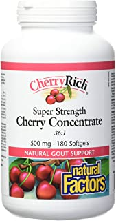 CherryRich by Natural Factors, Super Strength Cherry Concentrate, Antioxidant Support for Healthy Joints and Uric Acid Met...