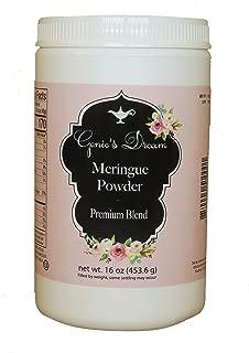 Genie's Dream Premium Meringue Powder, 16 oz (1 lb) jar