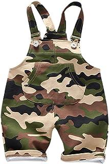 466e30c2998995 De feuilles Baby Shorts Hose mit Taschen Latzhose Kurz Hose Baby Mädchen  Latzhose Overall Jumpsuit Camouflage Latzhose 80-100 cm