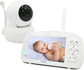Video Baby Monitor, Vijoy 5 '' HD 1080P Display Monitor with Camera, 2-Way Audio Vox, 5200 mAh Battery, 1000ft Range, Auto...