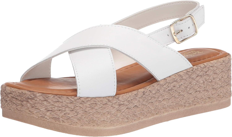 Bella Vita Made in Italy Women's Flat Platform Ita White Sandal Low price High order