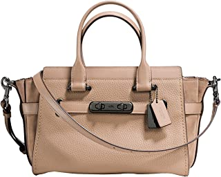 COACH Women's Coach Swagger 27 in Mixed Leathers Dk/Stone One Size