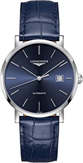 The Longines Elegant Collection Blue Leather L4.910.4.92.2
