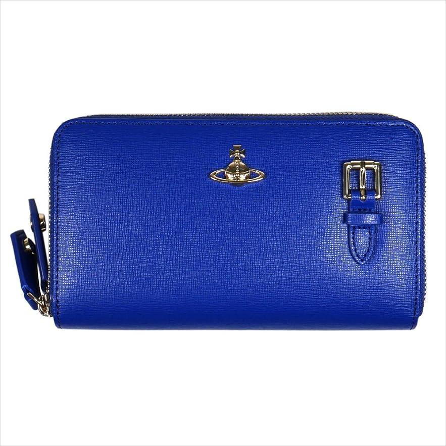 クリケット幻想的驚いたVivienne Westwood ヴィヴィアン?ウェストウッド 財布 SAFFIANO ポシェット ショルダーウォレット 51050026 BLUE 18SS ブルー