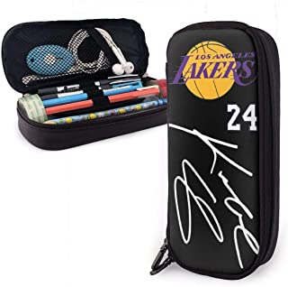 Seasterbuchi Cobee Lacers 篮球 标志 男女通用 大容量 PU 笔袋 化妆包 多功能 防水 铅笔盒 笔盒 上学 旅行 文具收纳 学生