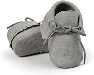Baby Boys Girls Moccasins Soft Sole Tassels Prewalker Anti-Slip Shoes