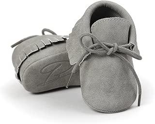 Baby Boys Girls Moccasins Sneakers Soft Sole Tassels Prewalker Anti-Slip Shoes