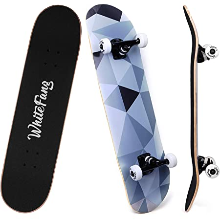 9 Layer Canadian Maple Double Kick Skateboard for Outdoor Sports Scientoy/ Skateboard 31/ x 8 Complete Pro Skateboard with A Repair Kit for Kids//Boys//Girls//Youth//Adults Beginner Skateboards
