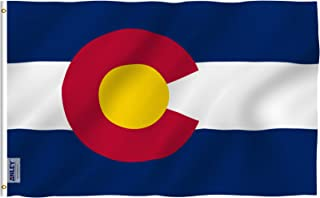 Anley Fly Breeze 3x5 Foot Colorado State Polyester Flag - Vivid Color and UV Fade Resistant - Canvas Header and Double Stitched - Colorado CO Flags with Brass Grommets 3 X 5 Ft