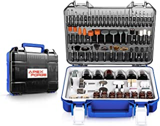 """Rotary Tool Accessories Kit, APEXFORGE 357 Pieces 1/8""""(3.2mm) Diameter Shanks Universal Fitment for Easy Grinding, Sandin..."""
