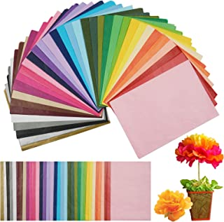 108 Sheets 36 Colors Art Tissue Paper, Wrapping Tissue Paper 20 x14 Inches for Arts Crafts Projects, Party Decoration, Pom...