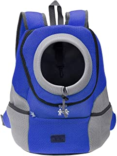 Mogoko Comfortable Dog Cat Carrier Backpack, Puppy Pet Front Pack with Breathable Head Out Design and Padded Shoulder for ...