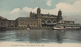 New York, NY - Immigrant Station on Ellis Island 6342 (12x18 SIGNED Print Master Art Print - Wall Decor Poster)