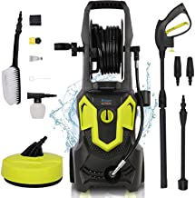 1650W 135Bar 420L/H Electric Pressure Washer, Portable Car Power Washer Jet Washer Patio Cleaner with Brush Accessories fo...