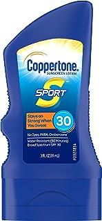 لوسیون ضد آفتاب ضد آفتاب Coppertone SPORT SPF 30 (3 اونس سیال) (بسته بندی ممکن است متفاوت باشد)