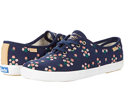 Keds Champion Posy Embroidered (Navy Embroidered Canvas) Women
