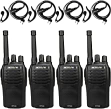 Retevis RT46 Rechargeable Walkie Talkies Dual Power FRS SOS Emergency Alarm Hands-Free Two-Way Radios with Earpiece (4 Pack)