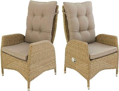 Edenjardi Pack 2 sillones de Exterior reclinables, Tamaño ...