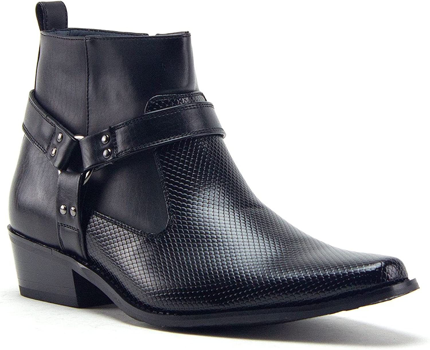 Men's 40126 security Leather Lined specialty shop Tall Cowboy Style Boots Dress Western