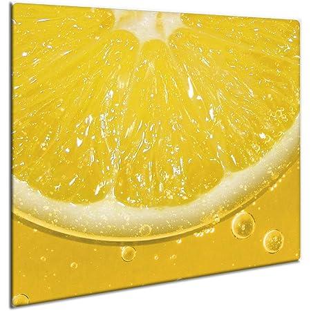 Herdabdeckplatten 60x52 cm Ceranfeld Abdeckung Glas Spritzschutz Küche Gelb
