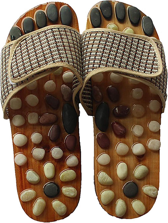 Limited price AW-SJ Straw Crafts Walk Stone Mat Acupressure Slippers Foot Max 82% OFF Acu