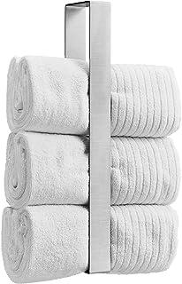 WEISSENSTEIN Estante toallero acero inoxidable baño 45cm | Portatoallas de Pared sin Taladro | Soporte para guardar Toalla...