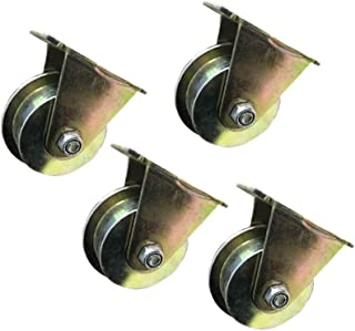 T-Groove Caster Wheel, Heavy Duty koolstofstalen wielen, REA-indicatoren, koudgewalst staal, dubbele kogellagers, voor ron...