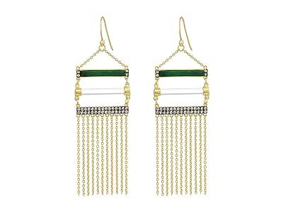 SOLE / SOCIETY Drama Fringe Earrings (Gold) Earring