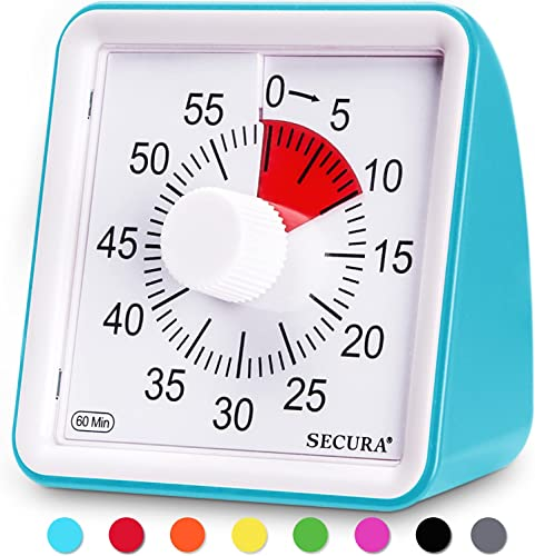 popular Secura 60-Minute Visual Timer, outlet sale Classroom Countdown Clock, outlet online sale Silent Timer for Kids and Adults, Time Management Tool for Teaching (Blue) sale