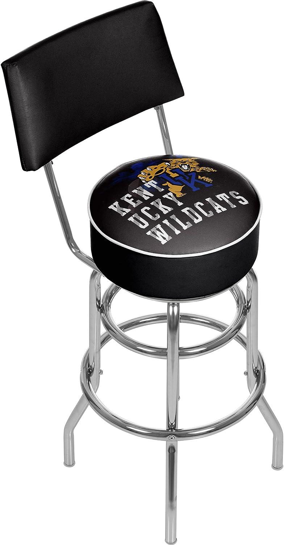 Trademark Gameroom University of Kentucky Wildcats Swivel Bar Stool with Back  Smoke