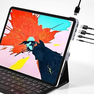 موزع USB C لجهاز iPad Pro، محطة شحن iPad Pro 2018، محول Baseus 6 في 1 من الألومنيوم iPad Pro Dongle USB Type-C مع 4K HDMI،...