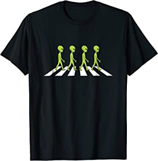 Aliens crossing and walking across road funny shirt gift