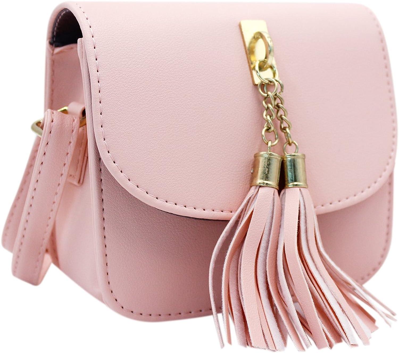 Tassel Crossbody Bag Purses Handbag Sling Shoulder Bag Satchel Phone Pouch Tote for Girls