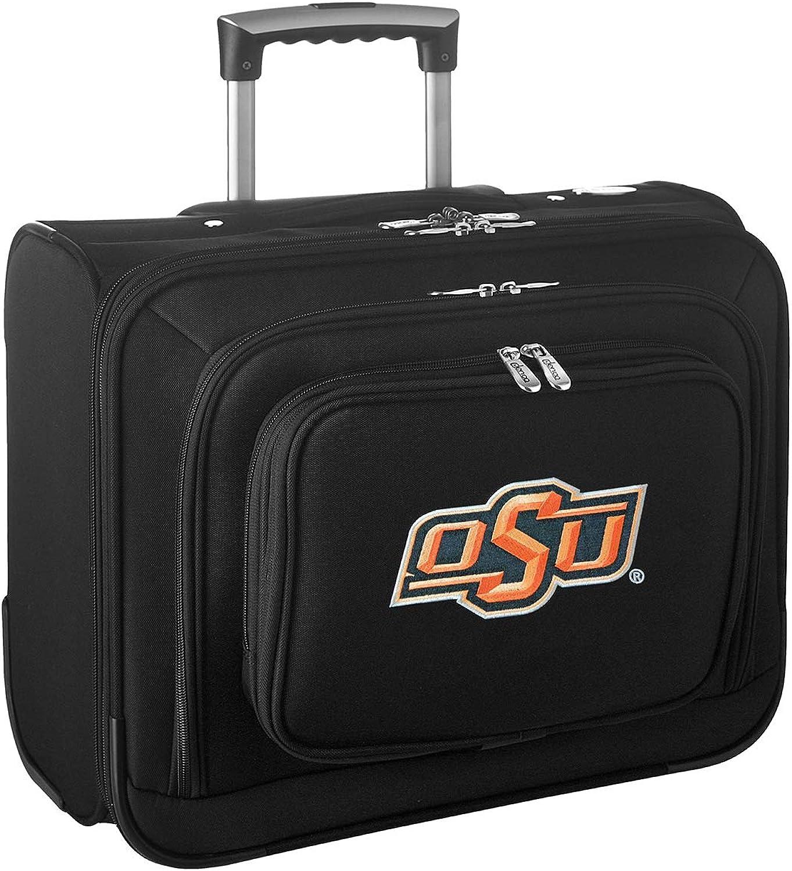 Denco NCAA Oklahoma State Cowboys Wheeled Laptop Overnighter CLOKL501, Black, 14  x 17  x 8.5