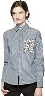 22d7ada1a7 NWT THAKOON for Kohl s Blue White Striped Button-Front Shirt Blouse ...