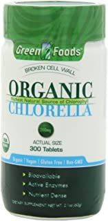 Green Foods Organic Chlorella 200 Mg, 2.1 ounce, 300 Count