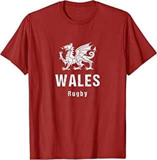 Wales Rugby T shirt for men women- distressed dragon & text