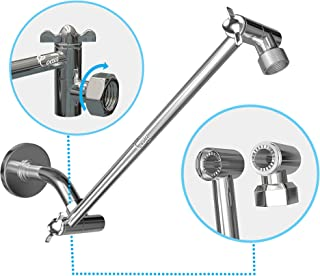 Coeur Designs 16 Inch Extra Long Shower Extension Arm. Solid Brass. Height/Angle Adjustable With a Unique Locking Gear for a Perfect Position Every time. Holds All Showerhead Sizes!!