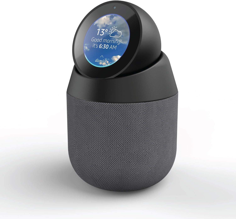 Vault Base Portátil y Altavoz para Amazon Echo Spot con Soporte extraíble