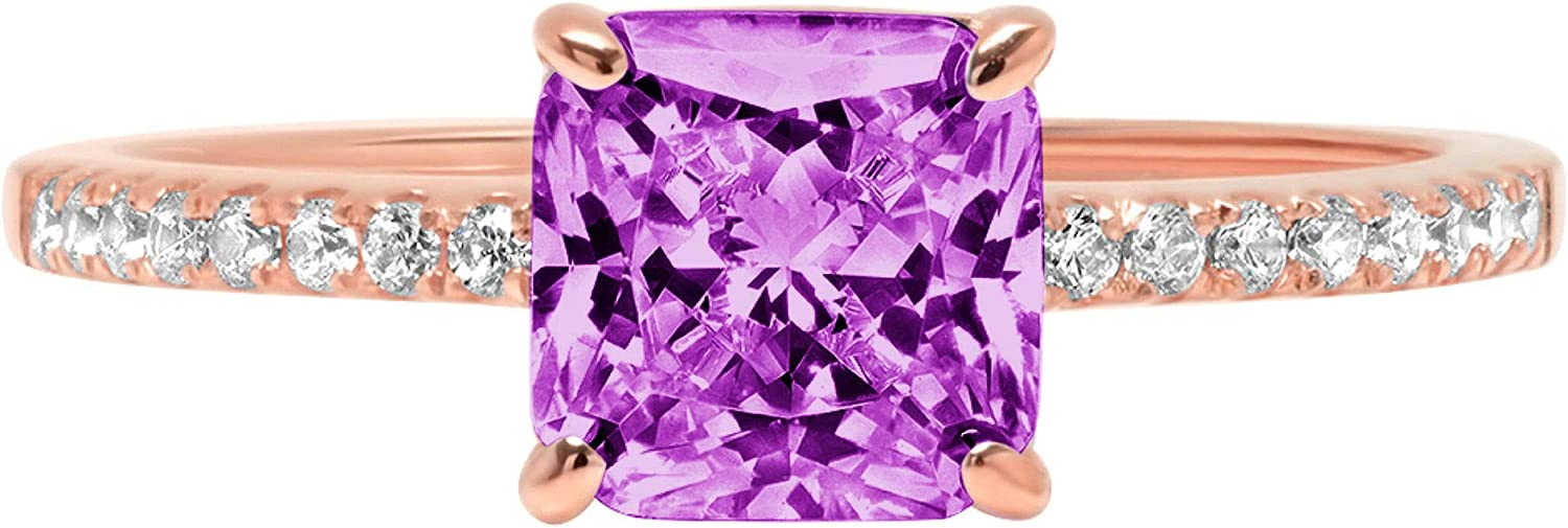 1.71 Brilliant Asscher Cut Solitaire 5 ☆ popular Stunning Sale price with Genuin Accent