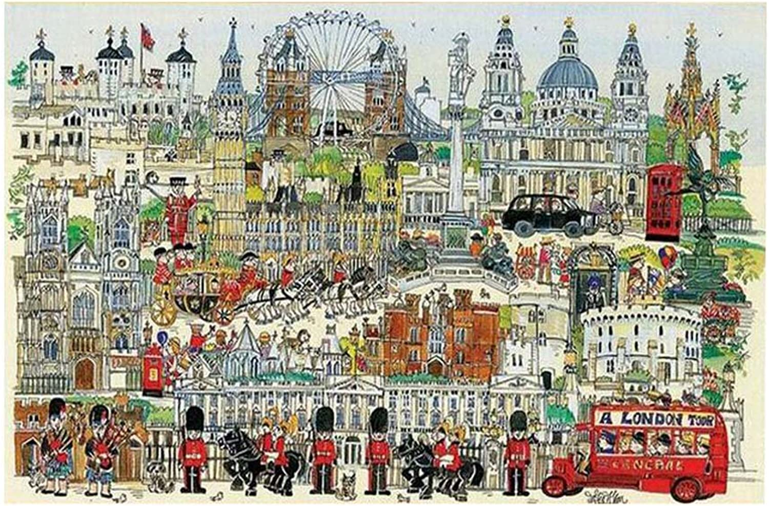 [London] 1000 Piece Wooden Jigsaw Puzzles Classic Jigsaw Puzzles Toy