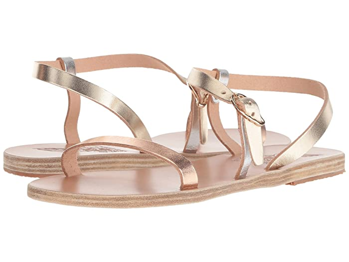 Ancient Greek Sandals  Niove (Pink Metal/Silver/Platinum) Womens Sandals