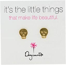 Dogeared - It's The Little Things Earrings Skull