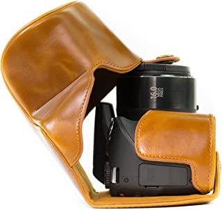 MegaGear Ever Ready Leather Camera Case Compatible with Canon PowerShot SX540 HS, SX530 HS