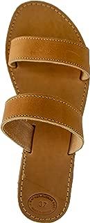 Women's Greek Leather Sandals Handmade Ancient Gladiator Style Flat Beach Sandal