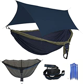 ENO Double Deluxe Hammock OneLink Tent System - Guardian Bug Net, Atlas Strap, and Tarp