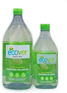 Ecover Lemon & Aloe Vera Washing-up Liquid 950 ml With Lemon & Aloe Vera Washing-up Liquid, 450 ml