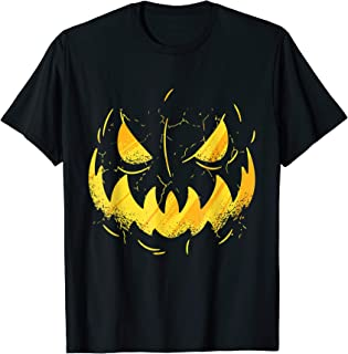 Jack-O-Lantern Halloween Pumpkin Face Scary Gift T-Shirt