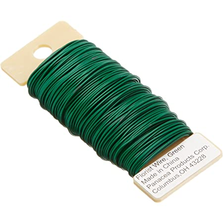 Christmas Tree Wreaths 3 Pack 114 Yards 22-Gauge Green Flexible Paddle Wire for DIY Crafts Paddle Wire Garland and Floral Flower Arrangements