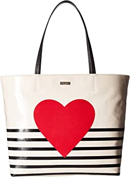 Kate Spade New York - Yours Truly Heart Stripe Hallie